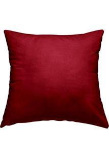 Capa De Almofada Altenburg Microfibra Veludo Port Vermelho-45Cm X 45Cm Vermelho