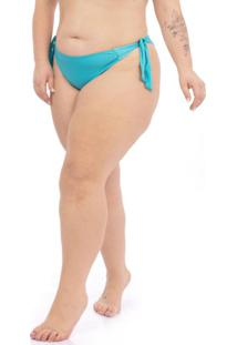 Calcinha Empina Bumbum Plus Size Azul