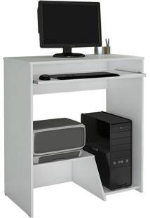 Escrivaninha/Mesa Para Computador Iris Jcm Movelaria Branco Cor:Branco - Branco - Dafiti