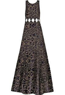 Vestido Longo Recorte Cintura Marfim - Lez A Lez