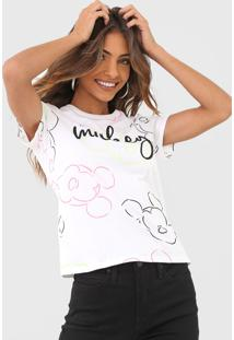 Blusa Cativa Disney Mickey Branca - Branco - Feminino - Algodã£O - Dafiti