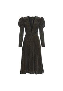 Vestido Midi Valentina - Preto