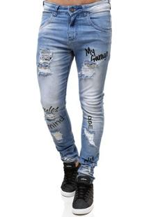 Calça Jeans Masculina Rock & Soda Azul