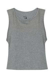 Camiseta Regata Oxer Tradicional New - Feminina - Cinza
