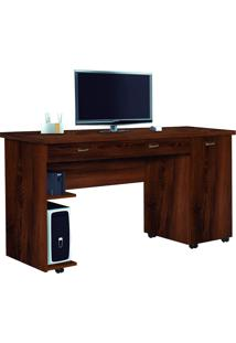 Mesa Para Computador Com 1 Porta E 1 Gaveta Ariel-Móveis Primus - Freijó