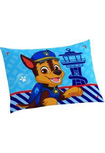 Fronha Patrulha Canina®- Azul Marrom- 50X70Cm-Lepper