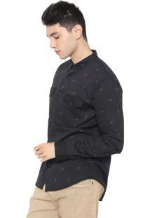 Camisa Osklen Reta Palm Preta
