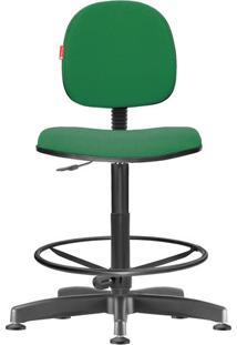 Cadeira Caixa Alta Executiva Giratória Crepe Verde Bandeira