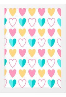 Quadro Adoraria A3 Cute Love Multicolorido
