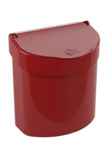 Lixeira Para Pia Glass 20,3 X 14,6 X 21,3 Cm 2,7 L Vermelho Bold Coza