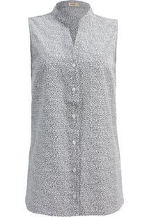 Camisa Intens Sem Manga Algodão Branco