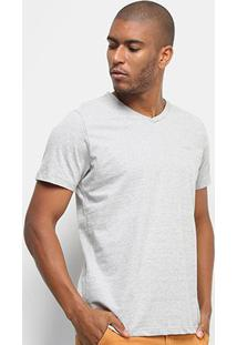 Camiseta Colcci Básica Gola V Masculina - Masculino-Mescla