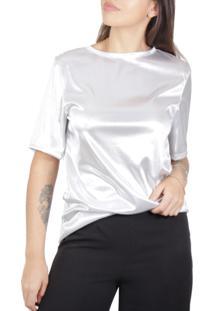 Camiseta Superfluous Silver Prata