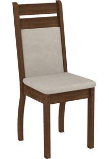 Conjunto De Mesa Com 8 Cadeiras Louise Rustic, Pérola E Floral Bege