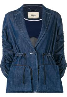 Fendi Jaqueta Jeans - Azul