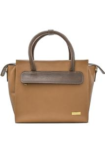 Bolsa Corazzi Leather Deluxe Estruturada Camel