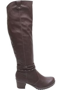 Bota Feminina Over The Knee Mississipi Marrom