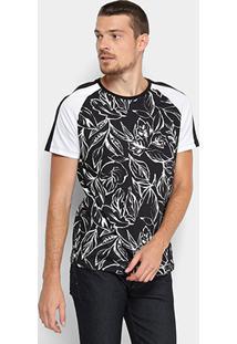 Camiseta Triton Full Print Bicolor Masculina - Masculino-Preto+Branco