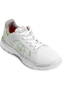 Tênis Fila Lightstep Comfort 2.0 Feminino - Feminino-Branco+Prata