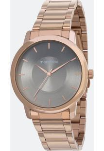 Kit Relógio Feminino Mondaine 53606Lpmvre4Kb Analógico 5Atm + Conjunto Semijóia