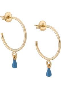 Isabel Marant Par De Brincos De Argola Casablanca Com Gota De Resina - Azul
