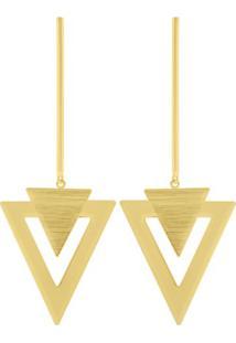 Brinco Euro Geométrica Dourado - Eus6999V/2D