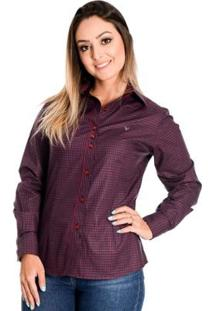 Camisa Pimenta Rosada Louise - Feminino-Vermelho Escuro