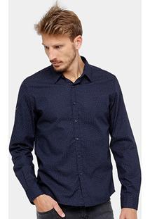 Camisa Ellus Slim Mini Print Masculina - Masculino