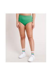 Hot Pant Feminino Carnaval Canelado Verde