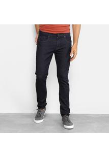 Calça Jeans Slim Redley Confort Escura Masculina - Masculino-Preto