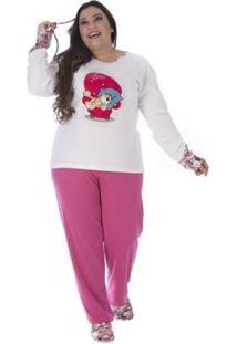 Pijama De Inverno Plus Size Victory Feminino - Feminino-Pink
