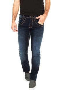 Calça Jeans Biotipo Pespontos Azul