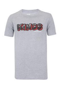 Camiseta Kings Brand - Masculina - Cinza