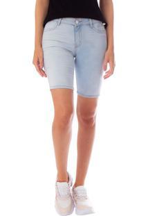 Bermuda Jeans Feminina Max Denim Azul Claro - 36