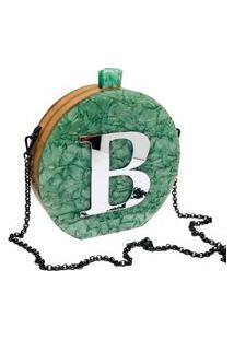 Bolsa Clutch Vip Green Inicial Personalizada