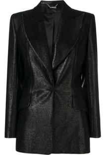 Styland One Button Blazer - Preto