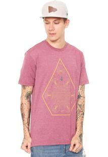 Camiseta Volcom Space Time Vermelha