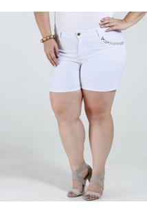 Bermuda Feminina Sarja Tachas Plus Size Marisa