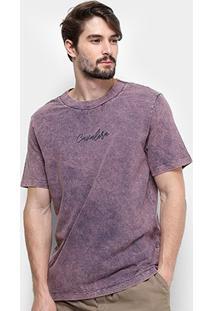 Camiseta Cavalera Marmorizada Masculina - Masculino-Roxo