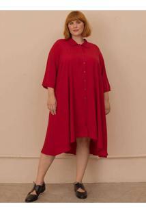 Vestido Chemise Gisela Plus Size Vermelho-Gg Verme