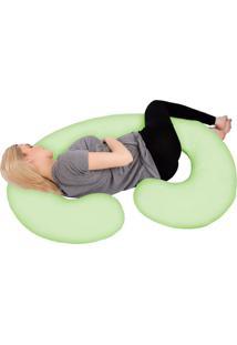 Fronha P/ Travesseiro De Corpo Gestante Verde Fassini Têxtil