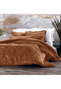 Edredom Blend Elegance Queen Size- Laranja- 240X260Caltenburg