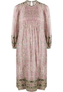 Isabel Marant Étoile Vestido Evasê Com Estampa Floral - Rosa