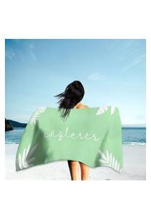 Toalha De Praia / Banho Ingleses Único