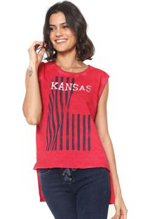 ... Regata Calvin Klein Jeans Estampada Mullet Vermelha 9b4bd6d7fe