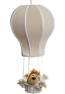 Lustre Balão Cintura Floresta Quarto Bebê Infantil Menina Menino Potinho De Mel Bege - Kanui