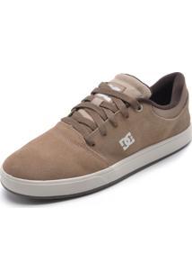 Tênis Couro Dc Shoes Crisis La Bege