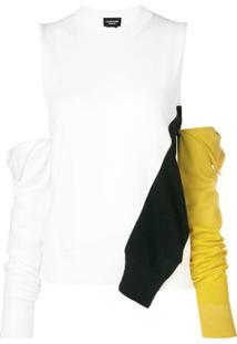 Calvin Klein 205W39Nyc Suéter Com Mangas Removíveis - Branco