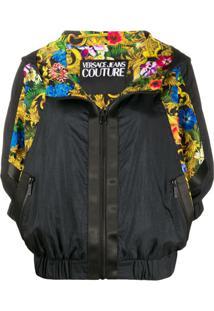 Versace Jeans Couture Jaqueta Bomber Com Estampa - Preto