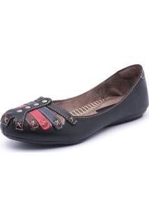 Sandalia Sapatilha Feminina Top Franca Shoes Preto